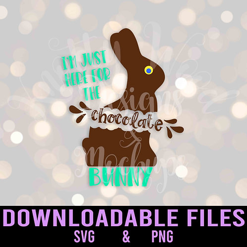 Here for the Chocolate Bunny SVG  - Downloadable File