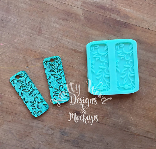 Damask Earrings silicone Mold / Jewelry Mold