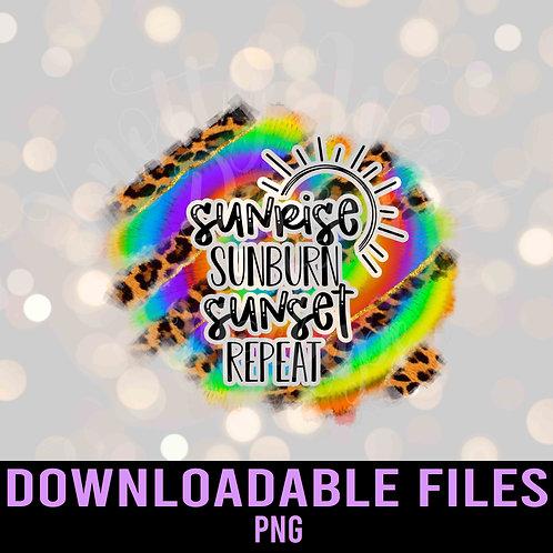 Sunrise Sunburn Sunset Repeat PNG - Downloadable File