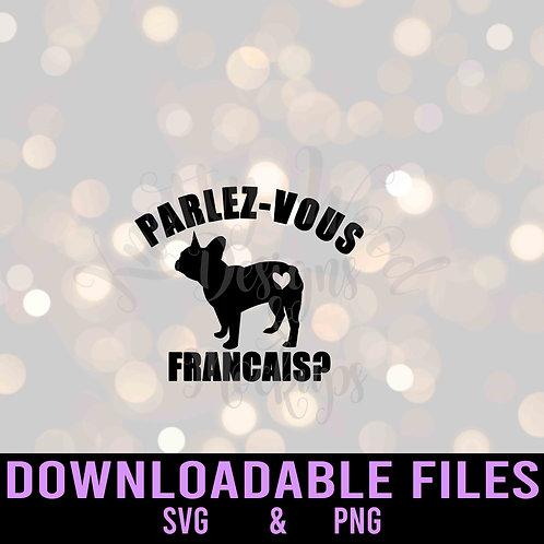 Parlez-vous Francais? Frenchie Downloadable File