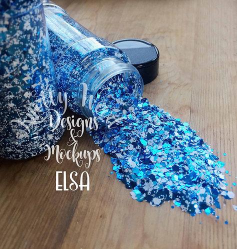 Elsa Chunky mix glitter / Winter glitter mix