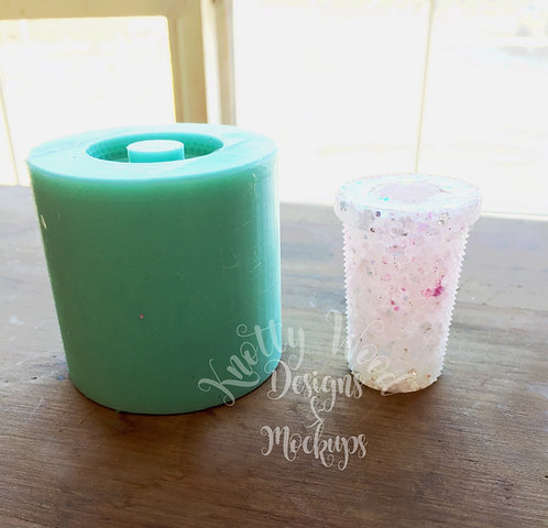 Bling cup Straw Topper Mold