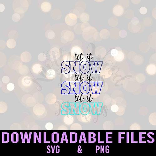 Let it Snow 4- Downloadable Design File