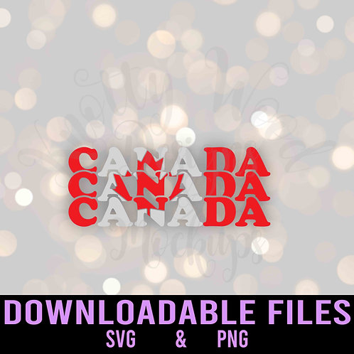 Canada Flag Retro SVG - Downloadable Files