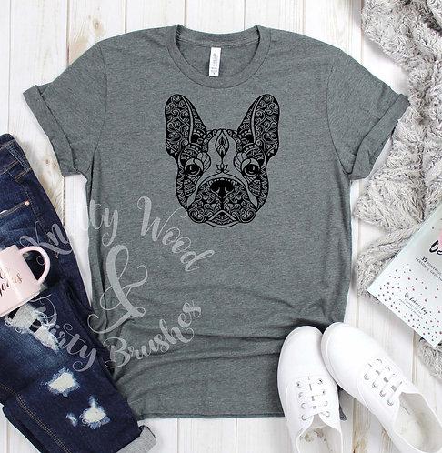 Mandala Frenchie T-shirt (XXL to 4XL)