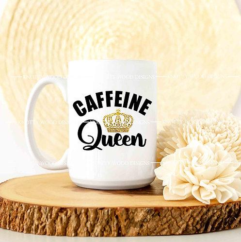 Caffeine Queen - coffee mug - 15 oz