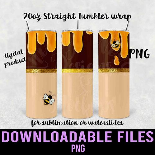 Honey Pot Tumbler wrap for sublimation - Downloadable