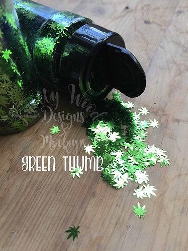 Green Thumb Chunky mix Glitter/Marijuana Glitter