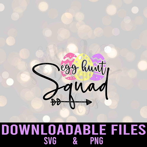 Egg hunt squad SVG  - Downloadable File