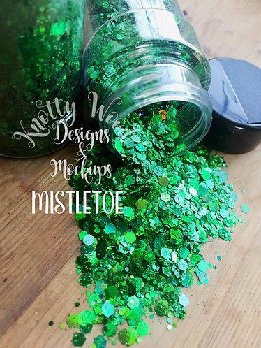 Mistletoe Glitter / Green Chunky Glitter / Christmas Glitter