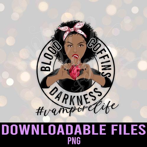 Vampire Life - Blood Coffins Darkness  Sublimation - Downloadable Design