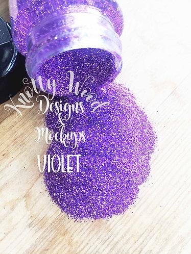 Violet Glitter / Extra Fine violet Glitter / 1/128 glitter /Light purple glitter