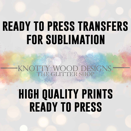 Ready To Press Sublimation Print - Full Colour Sublimation Transfer