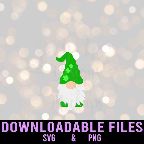 St. Patrick's Day Gnome SVG  - Downloadable File