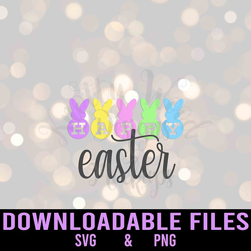 Happy Easter SVG  - Downloadable File