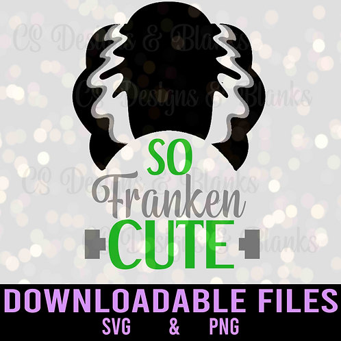 So Franken Cute Bride Hair - Downloadable Design