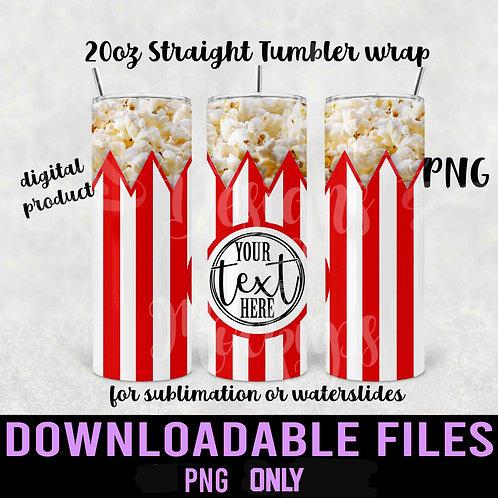 Popcorn Tumbler wrap for sublimation - Downloadable