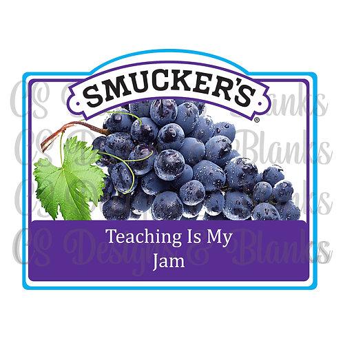 Teaching is my Jam - Grape Jam label - Sublimation Downloadable Desig