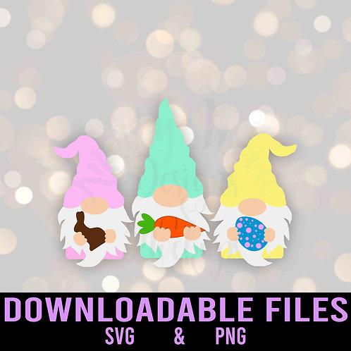 Easter Gnomes SVG  - Downloadable File