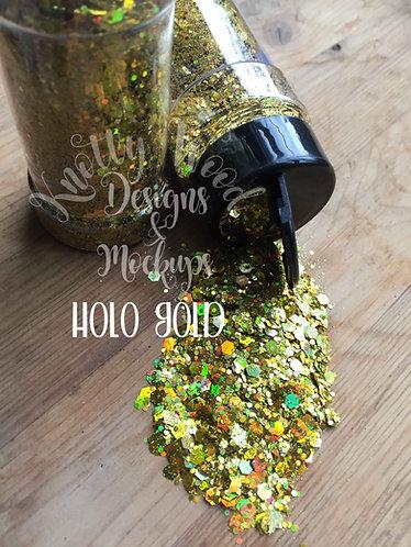 Holo Gold Chunky mix Glitter