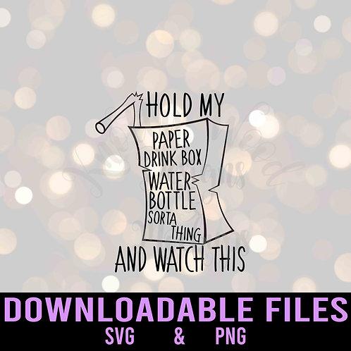 Paper Drink Box Sorta Thing Downloadable File