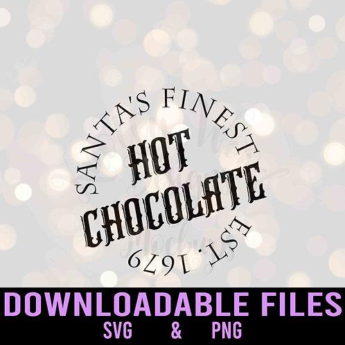 Santa's Finest Hot Chocolate - Downloadable Design