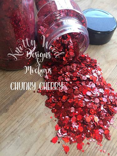 Chunky Cherry Glitter / Red Chunky Glitter / Christmas Glitter