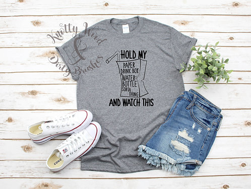 Paper drink box T-shirt (Small to XL)