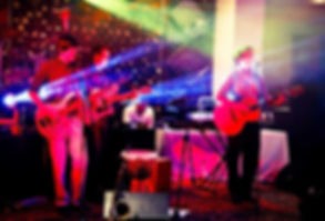 DWC Cover Band entertaining the crowd at a corporate function
