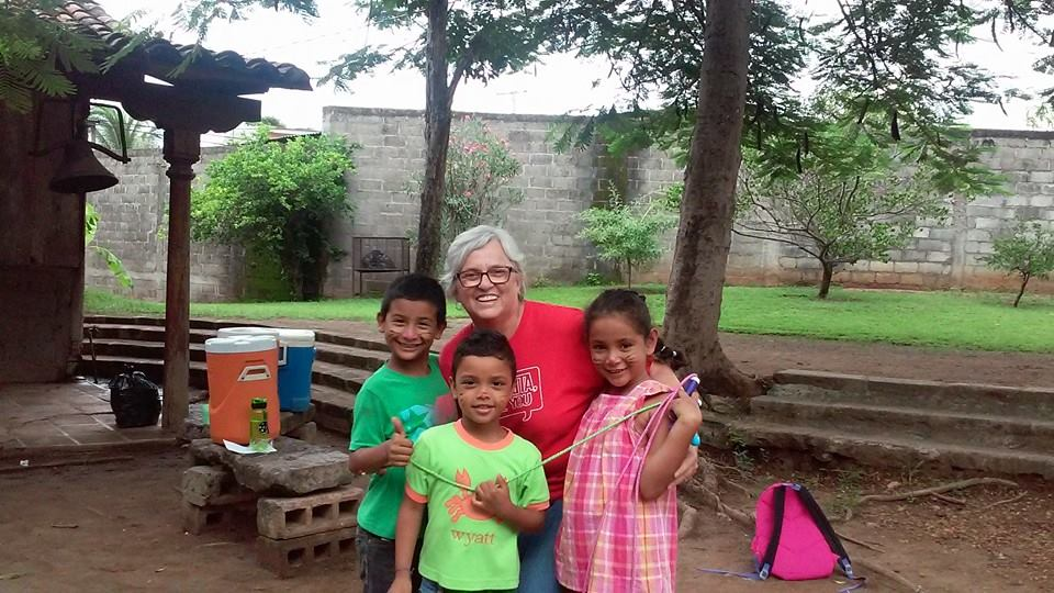 Paulette with kids