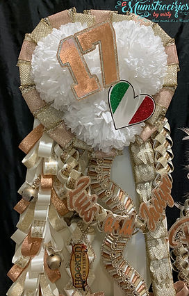 Ivory Rose Gold Luis Garter Crown Triple