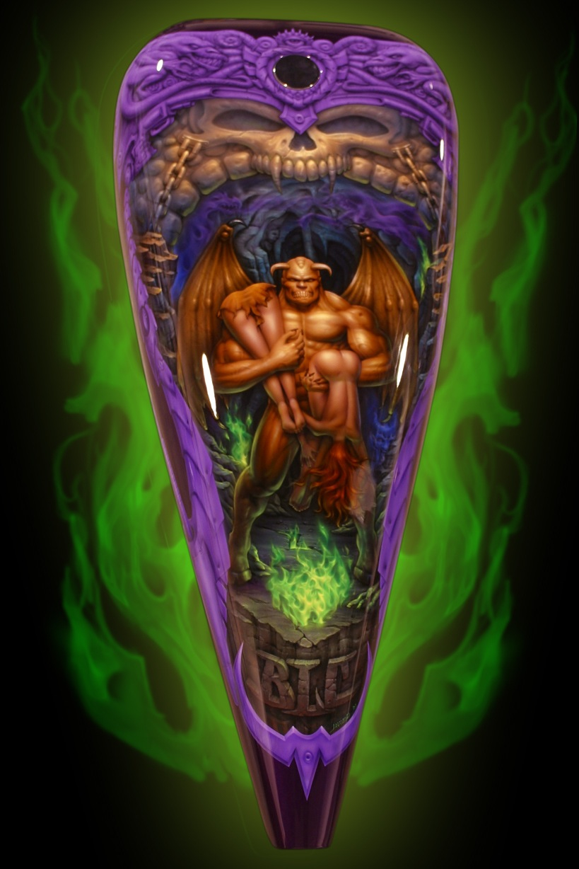 fantasy art on chopper tank