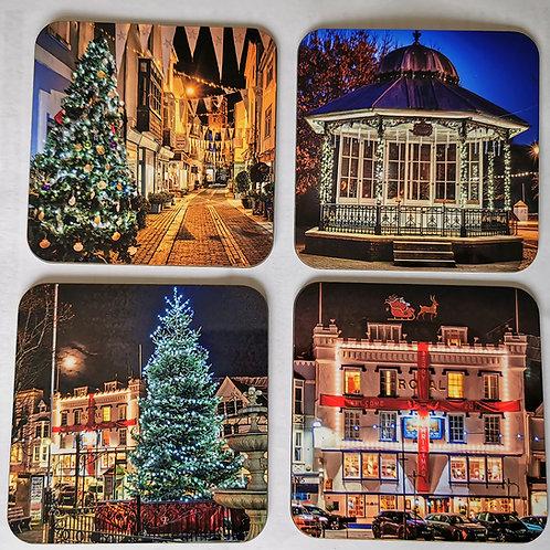 Christmas in Dartmouth Coaster set