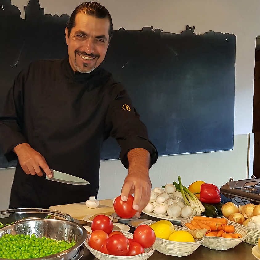 Eten bij Zaher; Syrisch buffet (vol)