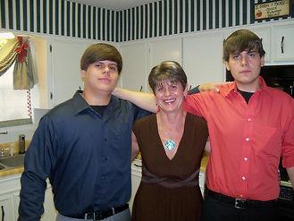 Pam Brossett and sons