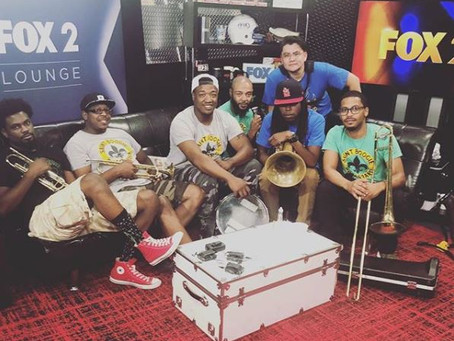 "Saint Boogie Brass Band on Fox 2 News in the Morning - Song: ""Keep It Moving""  - Oct 5, 2018"