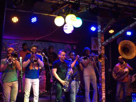 Bringing the PHUNK at Boogie Nights at Broadway Oyster Bar #SaintBoogieBrassBand #SB3 -May 12, 2019