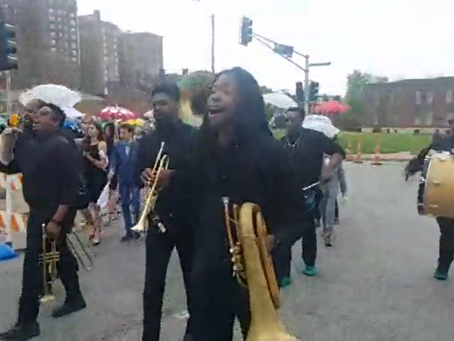 New Orleans-Style Second Line Parade in Grand Center, lead by Saint Boogie Brass Band