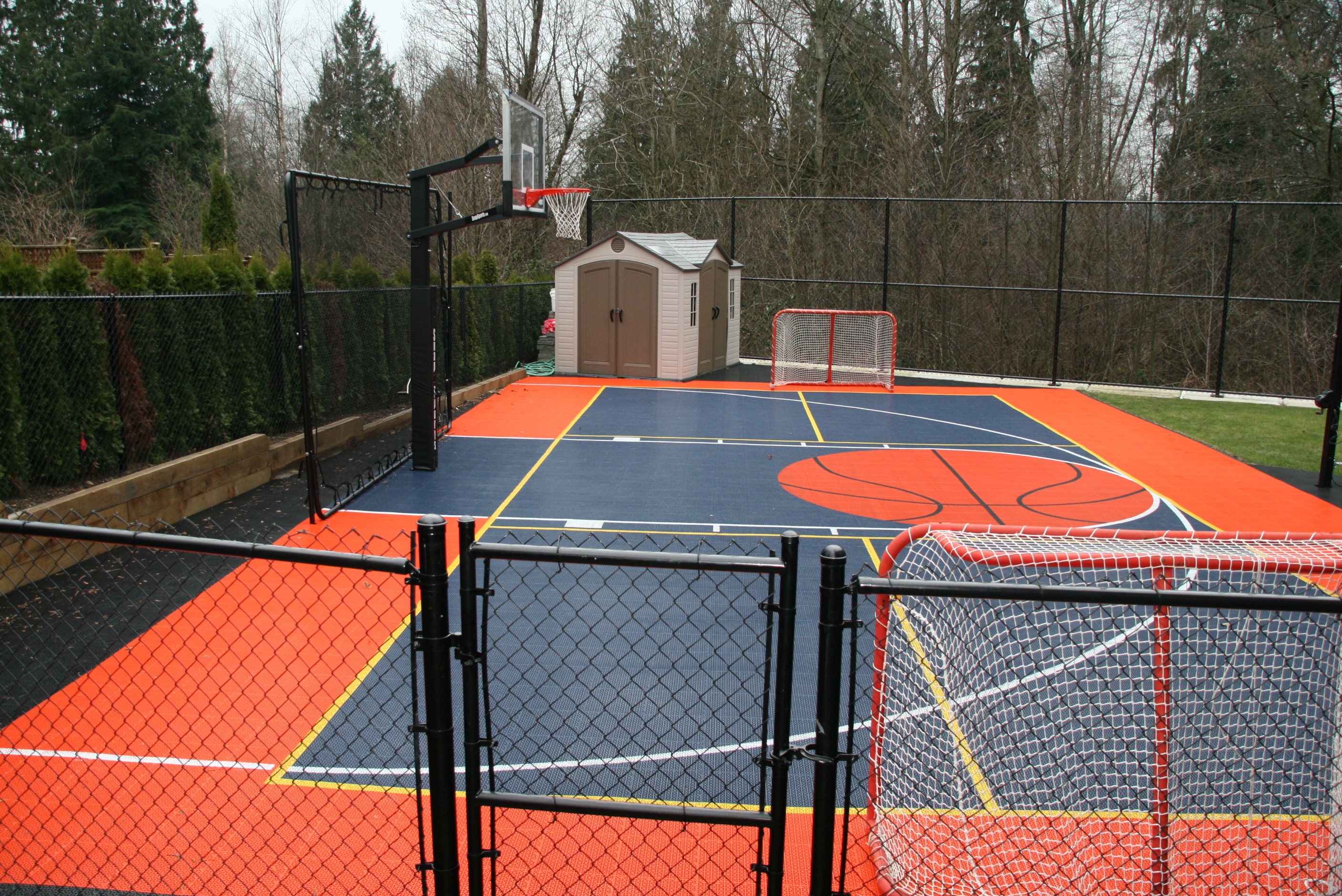 Half court Basketball in Morgan Cree