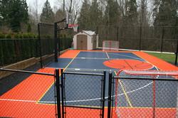 Half court Basketball in Morgan Cree