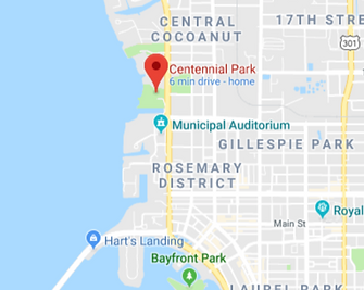 Centennial Park and Pick Up Location for The Siesta Key Sea Turtle