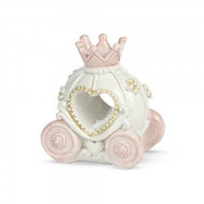 carrozza con corona rosa