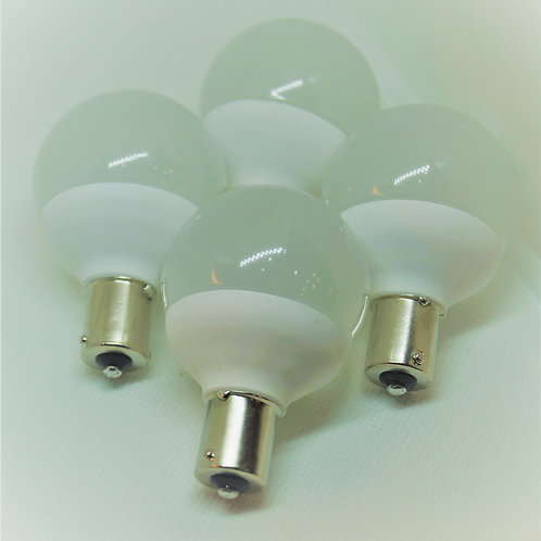 1156 - Single Bayonet - Vanity BA15s - Set of 4 - Warm & Cool White - Dimmable