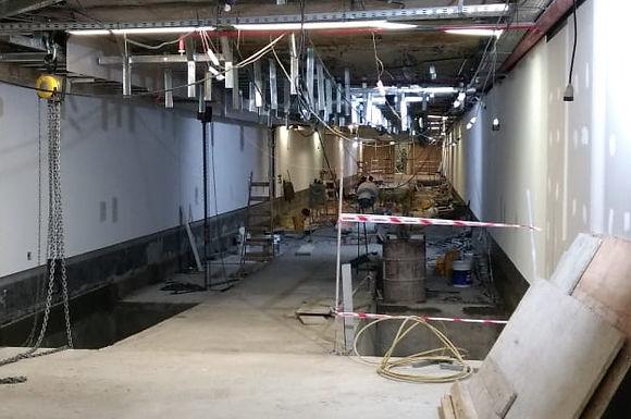 Comenzó la instalación de los pasillos rodantes de la Terminal