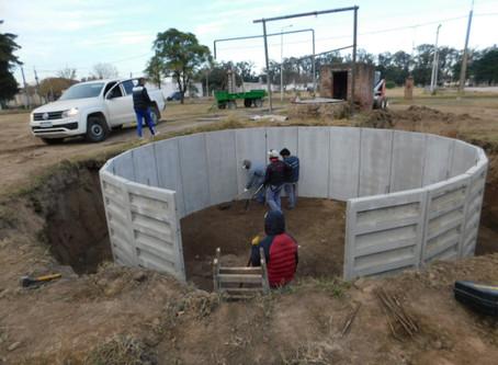 Construcción de nuevo depósito de agua