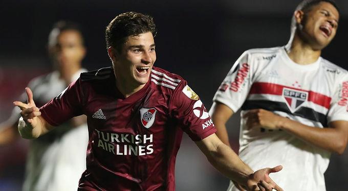 El delantero de River Julián Álvarez dijo que el empate 2 a 2 fue un punto importante
