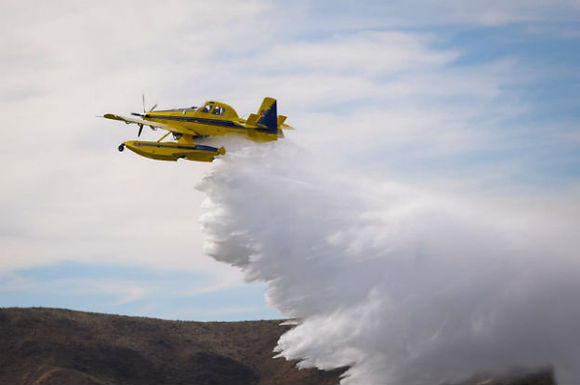 Últimas pruebas de vuelo del nuevo avión hidrante de la Provincia