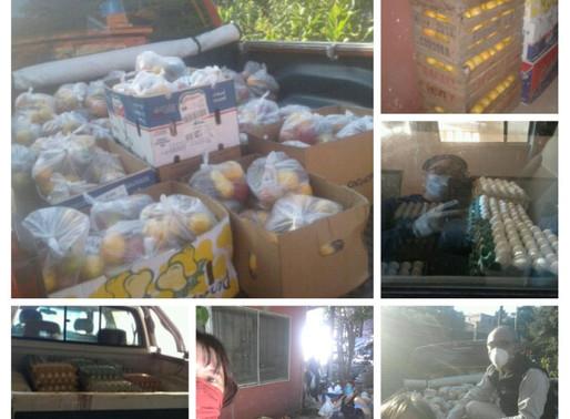 Una Escuela Rural de Córdoba donó alimentos a 183 alumnos
