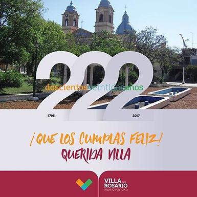 ¡Feliz cumpleaños Villa del Rosario!