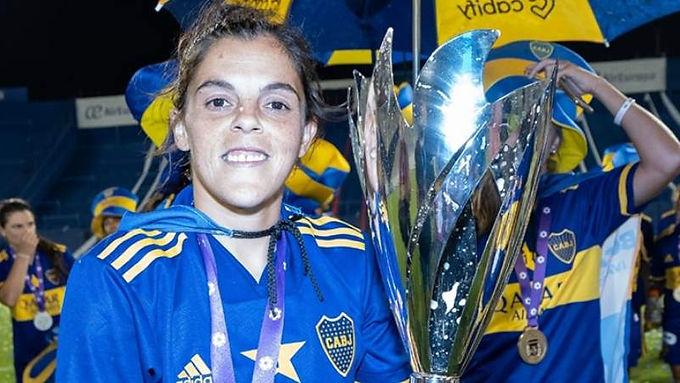 Florencia Quiñones de Oncativo campeona con Boca Juniors